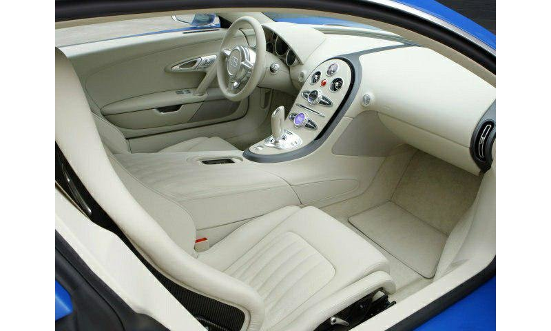 The interior of Bugatti Veyron cars.