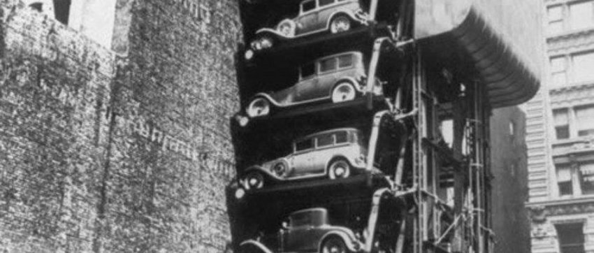 A multi-storey car park in Chicago, USA.1936.